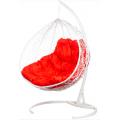 Двойное подвесное кресло Gemini white (красная подушка)