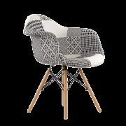 Кресло PATCHWORK (Черно-белый)