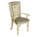 Стул-кресло MK-4520-LW LUSA Слоновая кость с темной патиной