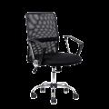 Компьютерное кресло К-147 (Черная ткань / Черная сетка)