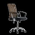 Компьютерное кресло К-147 (Коричневая ткань / Коричневая сетка)