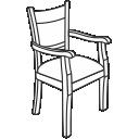 Деревянные кресла с подлокотниками