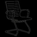Офисные кресла на полозьях