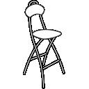 Складные барные стулья