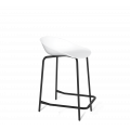 Полубарный стул SHT-ST19/S29-1 белый/черный