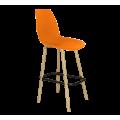 Стул барный SHT-ST29/S94 оранжевый оранжевый ral2003/прозрачный лак/черный