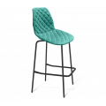 Барный стул SHT-ST29-C12/S29 голубая лагуна/черный муар