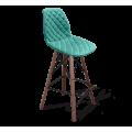 Барный стул SHT-ST29-C12/S80 голубая лагуна/темный орех