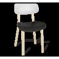 Пластиковый стул SHT-S85 белый/черный/бежевый
