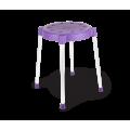 Табурет SHT-S36 фиолетовый/серый