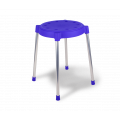 Пластиковый табурет SHT-S36 синий/металлик