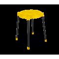 Табурет SHT-S36  желтый/черный