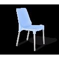 Стул SHT-S75 пластиковый голубой голубой pan 278/хром лак