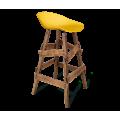 Барный стул SHT-ST19/S81 желтый/дуб брашированный коричневый