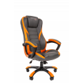 Офисное кресло Chairman   game 22 Россия экопремиум серый/оранжевый