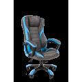 Офисное кресло Chairman   game 22 Россия экопремиум серый/голубой