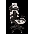 Кресло Chairman  game 25 Россия экопремиум черный/белый