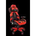 Кресло Chairman  game 25 Россия экопремиум черный/красный