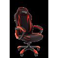 Геймерское кресло Chairman Game 28 черный/красный