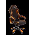 Геймерское кресло Chairman Game 28 черный/оранжевый